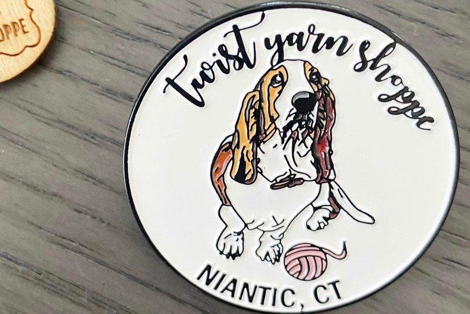 Twist Yarn Shoppe- Penny Enamel Pin