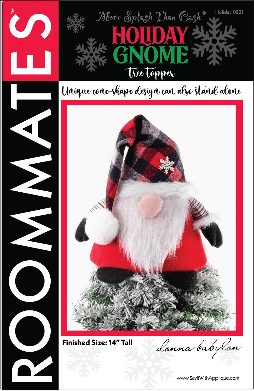 Holiday Gnome Tree Topper  Instant Download PDF