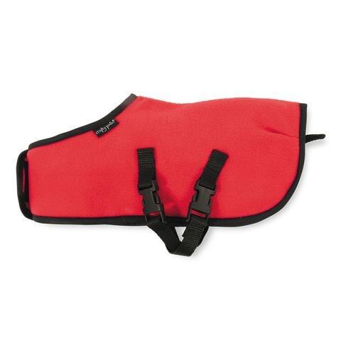 CRAFY PONY FLEECE RUG RED