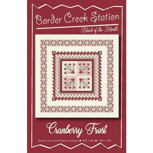 Cranberry Frost Quilt Kit 100x100 includes pattern