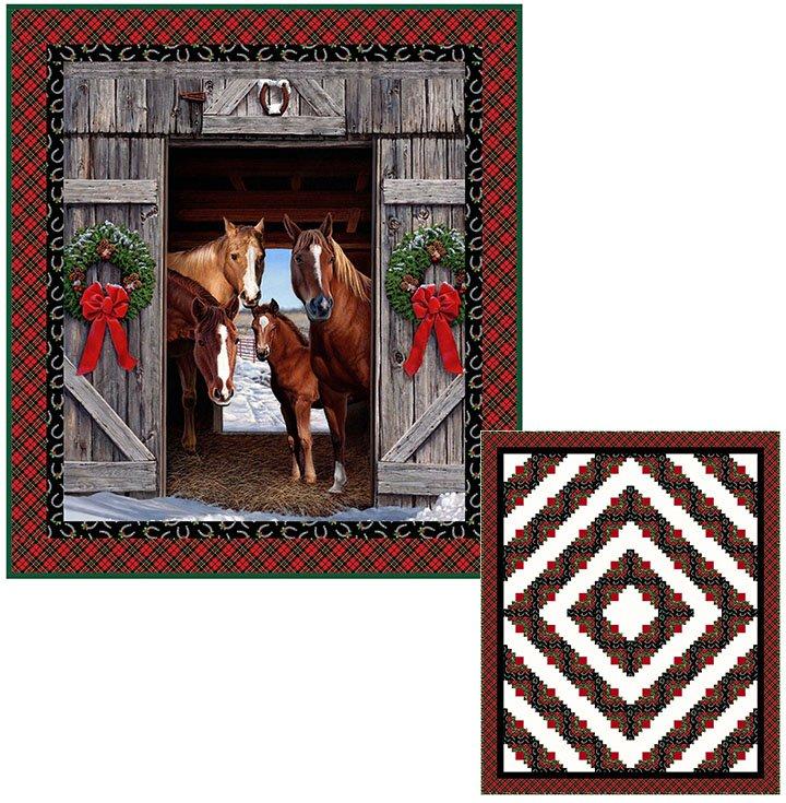 HAY...IT'S CHRISTMAS XMAS HORSES Pattern