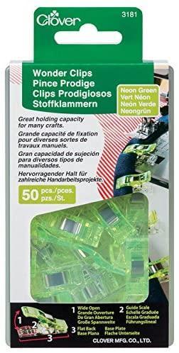 WONDER CLIPS 50 CT. NEONGREEN 3181CV