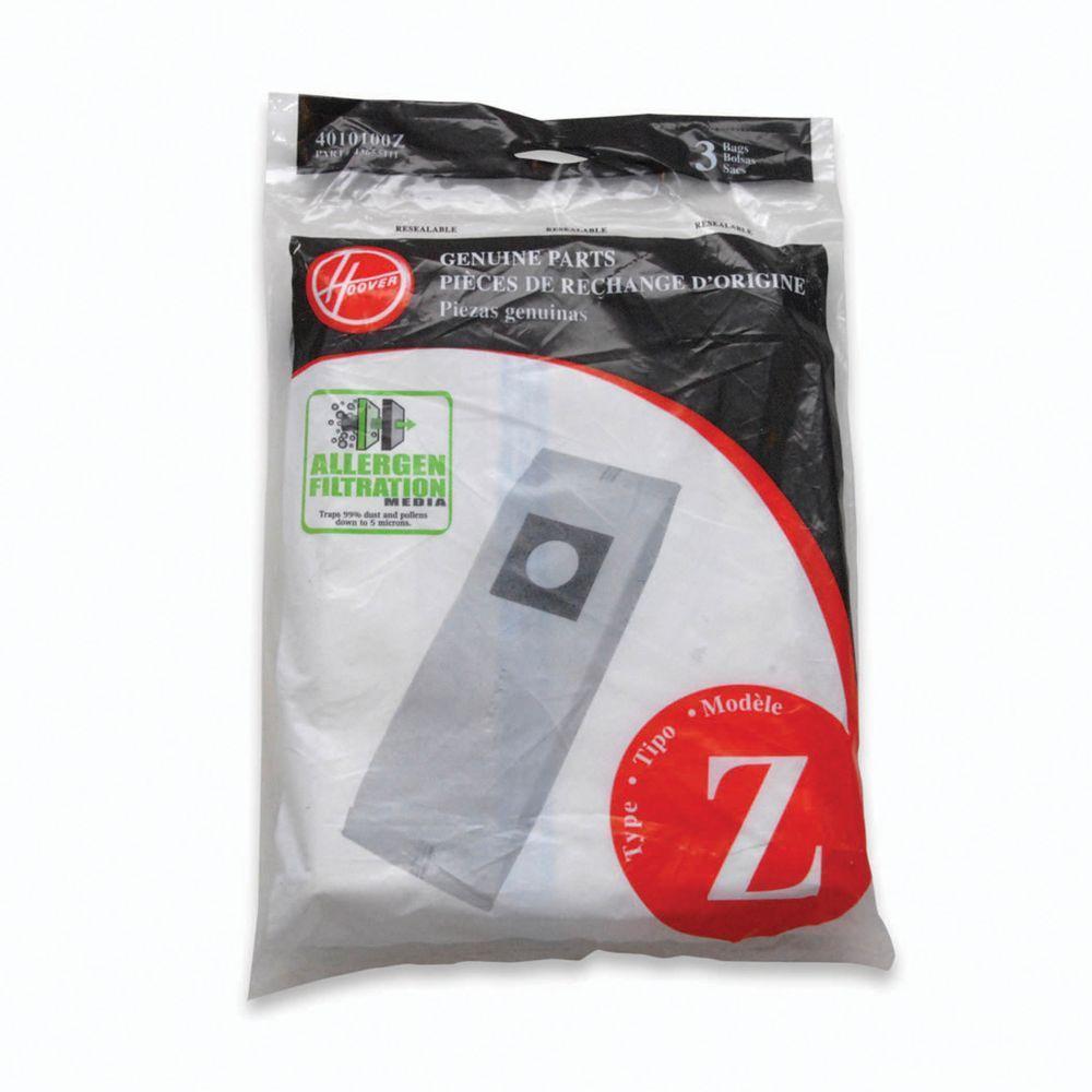 BAGS HOOV TYPE Z ALLERGEN   3PK       (QQ-4)