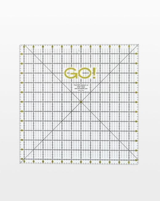 ACCUQUILT GO! QUILTING RULER12 1/2x12 1/2 AQ55475