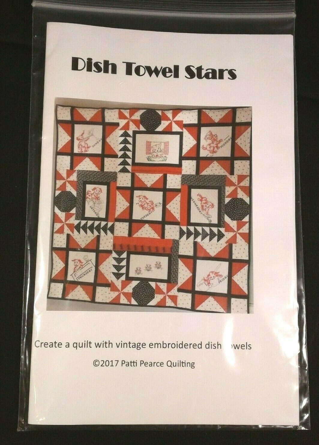 DISH TOWEL STARS PATTERN