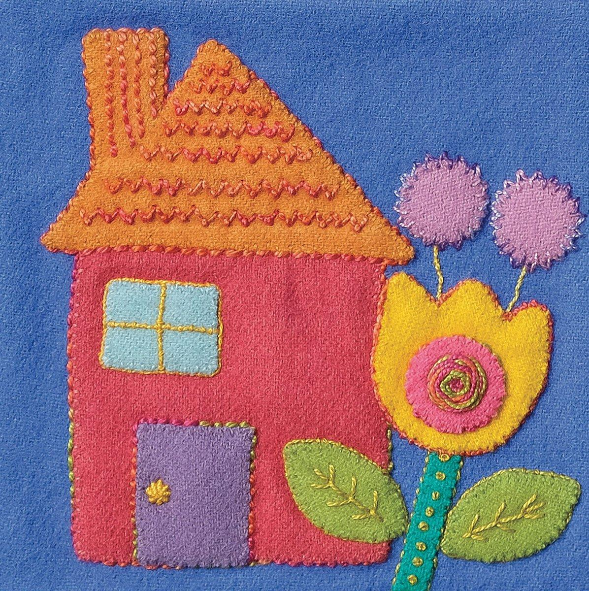 Sue Spargo Pre-Cut Wool Block Kit - House Colorway 3