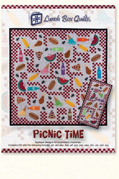 Picnic Time Machine Embroidery Quilt Pattern    QP-PT-1