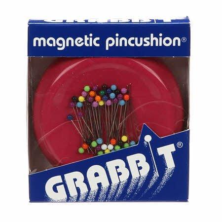 Grabbit Magnetic Pincushion - Raspberry    GRABITRASP