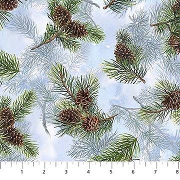 Day Dream - Blue Multi Pine Cones