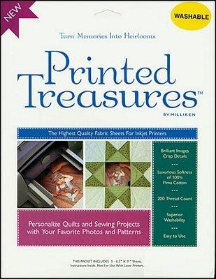 Fabric Sheet/ Printed Treasures White
