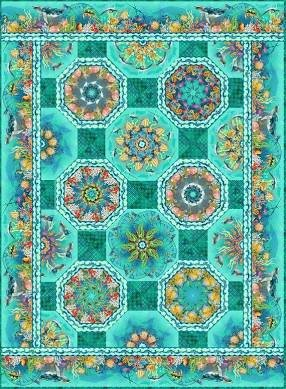 Calypso One Fabric Kaleidoscope Quilt Kit