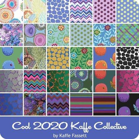 FS Kaffe Fassett Collective February 2020 Fat Quater Bundle Cool