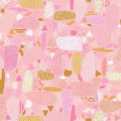 CS Girl's Club PK105-PI3 Pebbles Pink Fabric