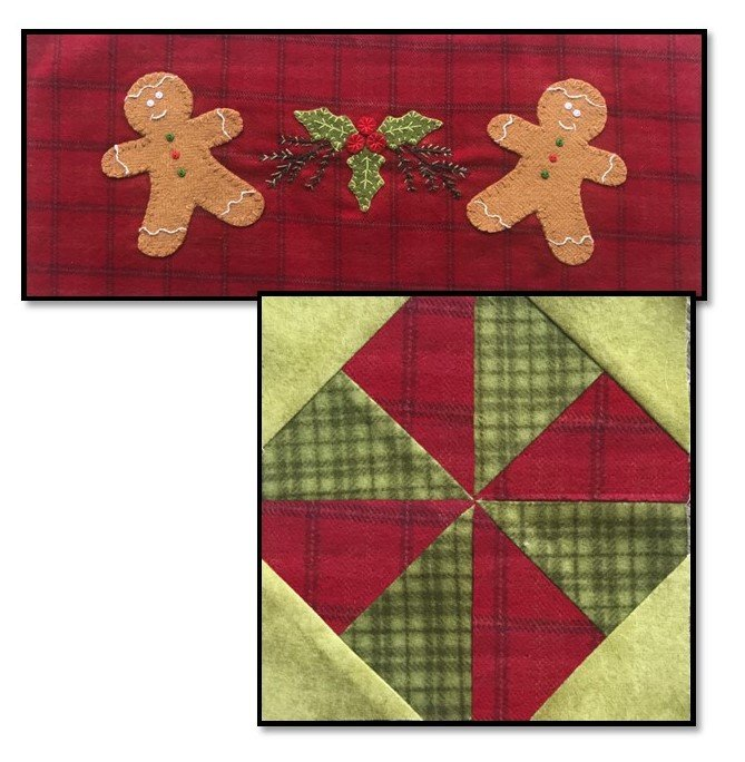 Gingerbread Stitches Block 6 FREE Download