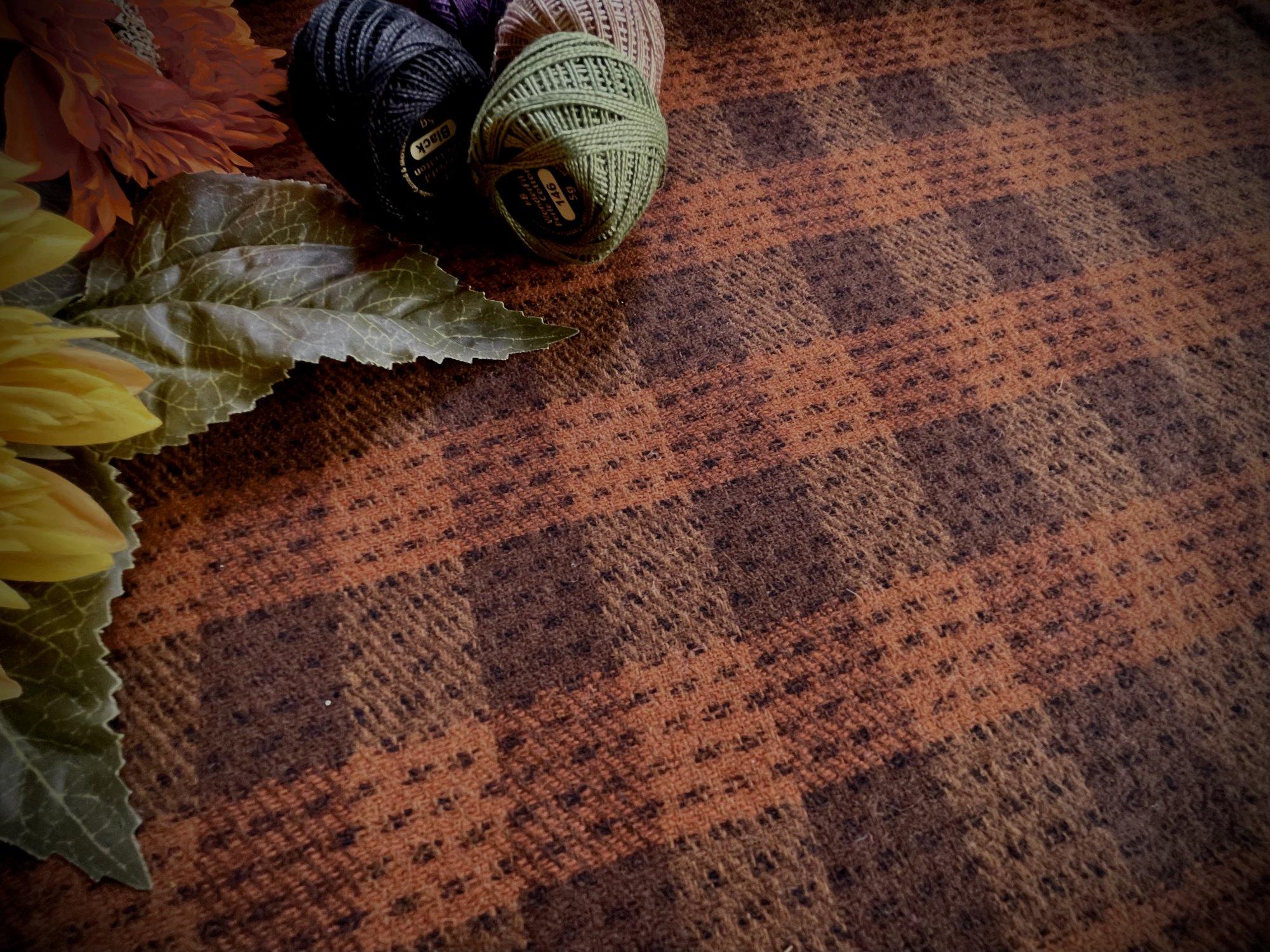 Burnt Orange Buffalo Plaid Wool