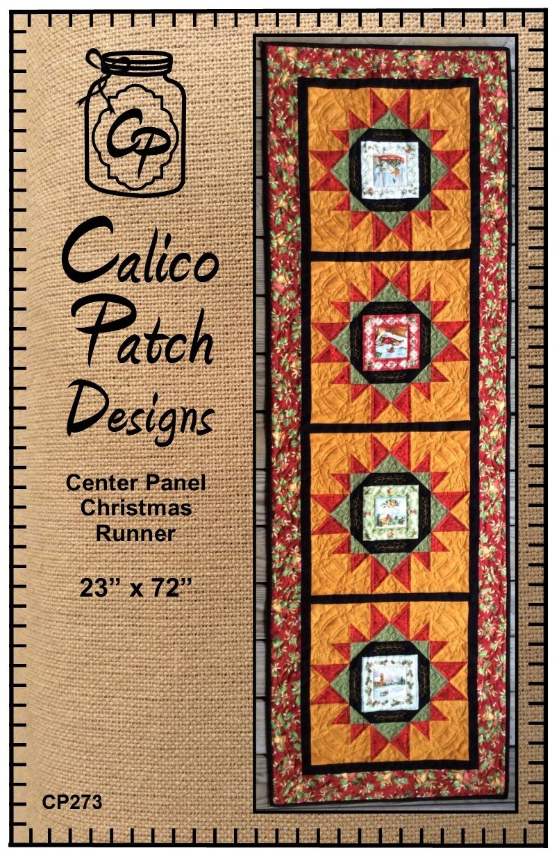 Center Panel Christmas Runner