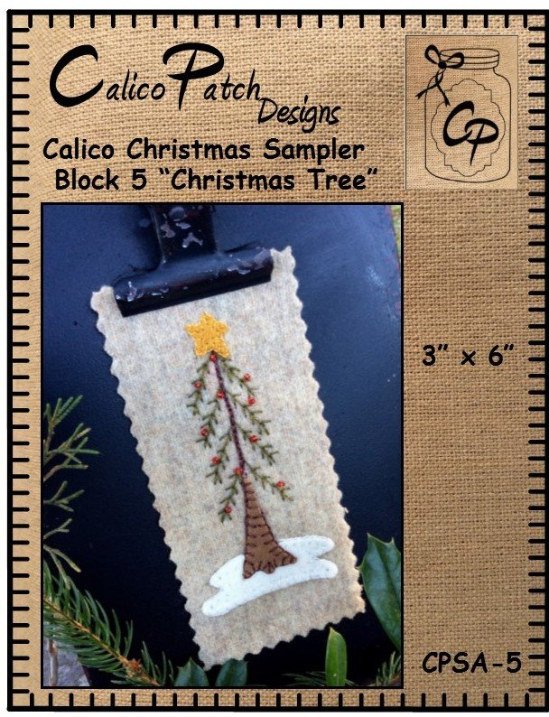 Calico Christmas Block 5 Christmas Tree