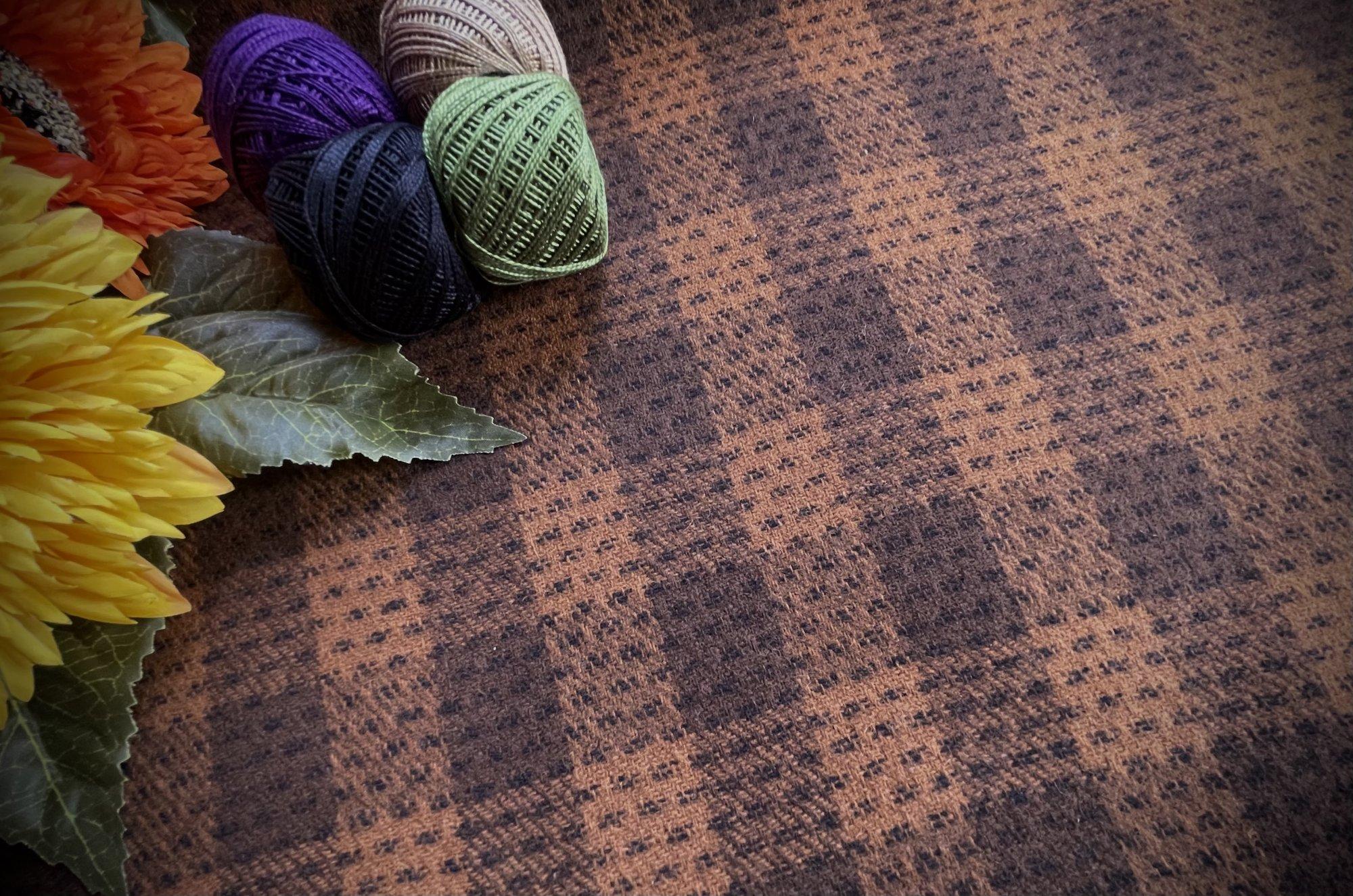 Fall Brown Buffalo Plaid Wool