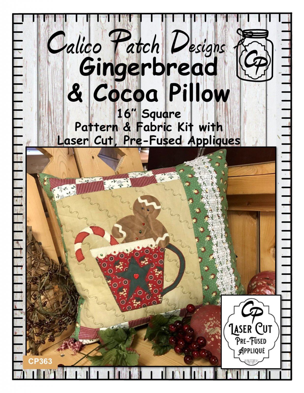 Gingerbread & Cocoa Pillow