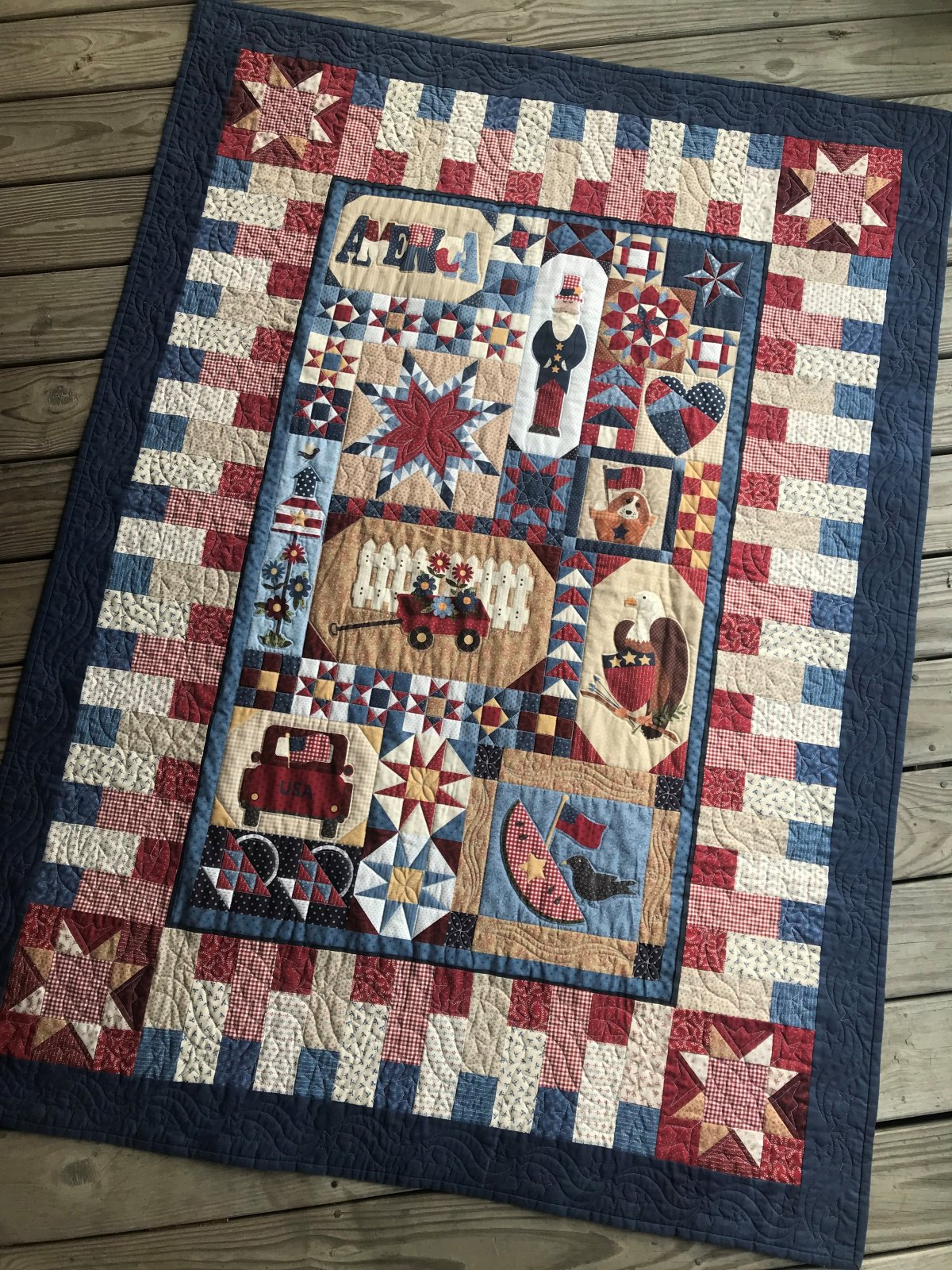 Patches of Americana Panel Quilt
