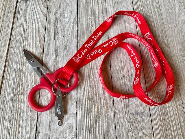 Calico Patch Lanyard