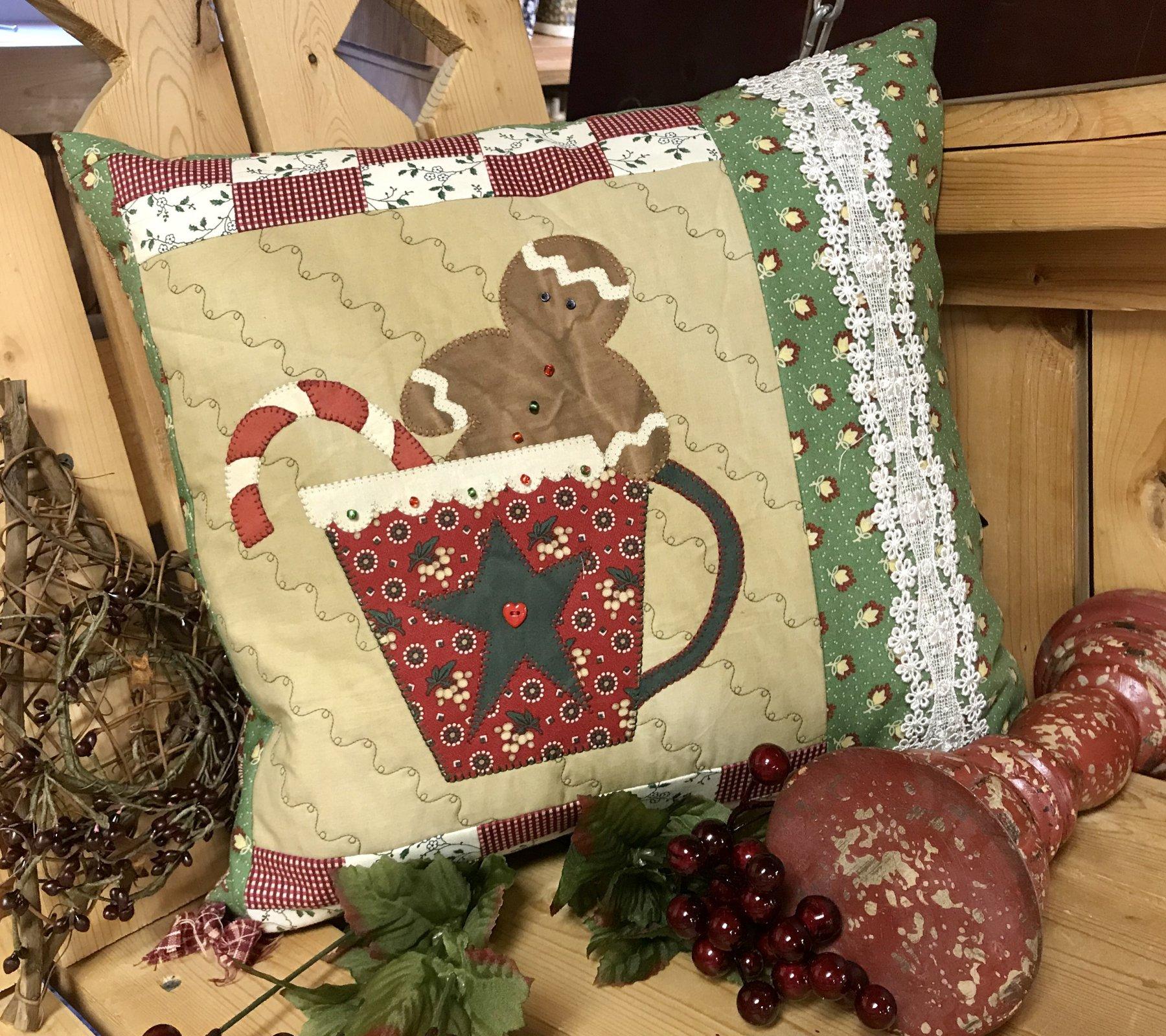 Gingerbread & Cocoa Pillow