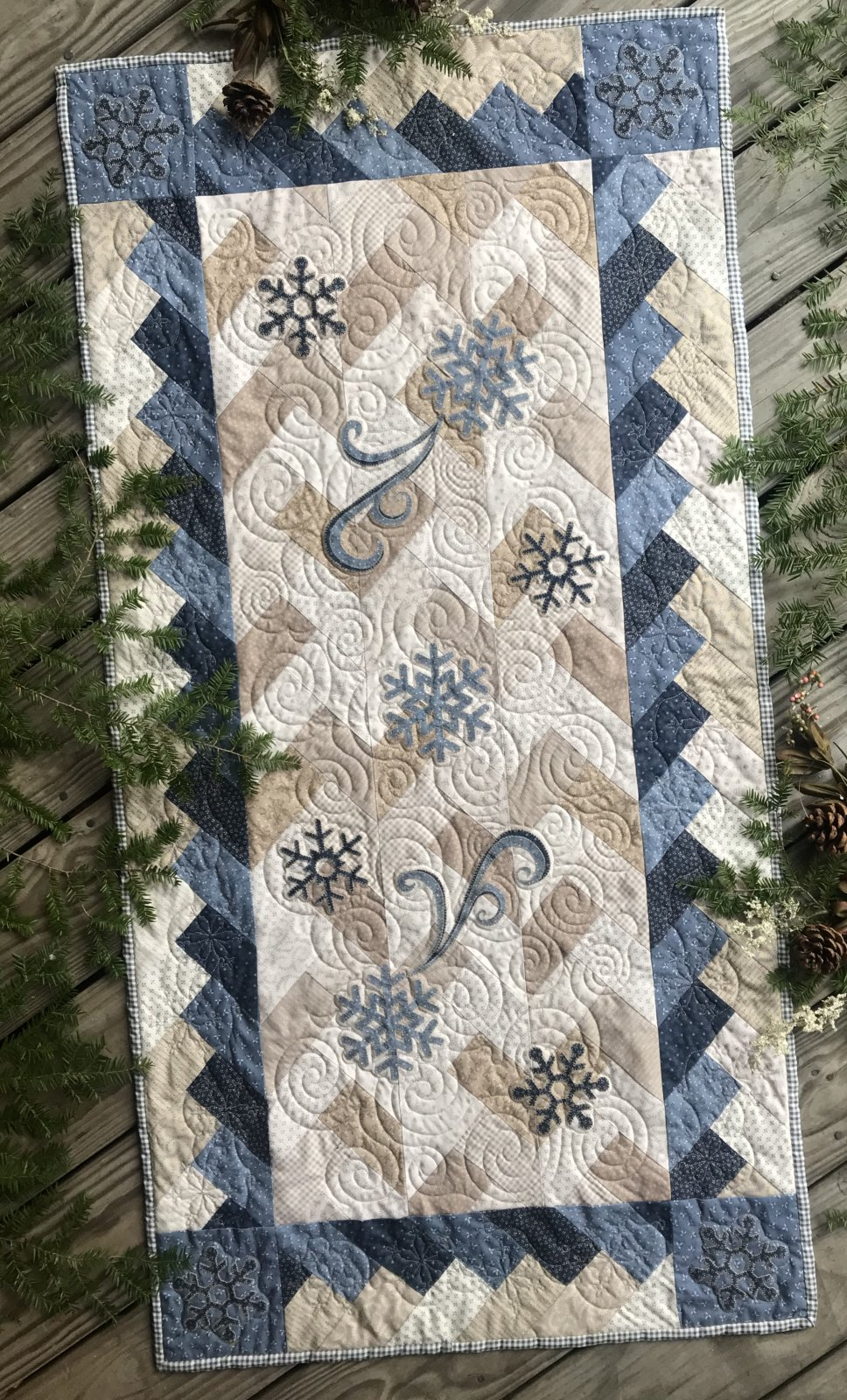 Braided Snowflake Runner