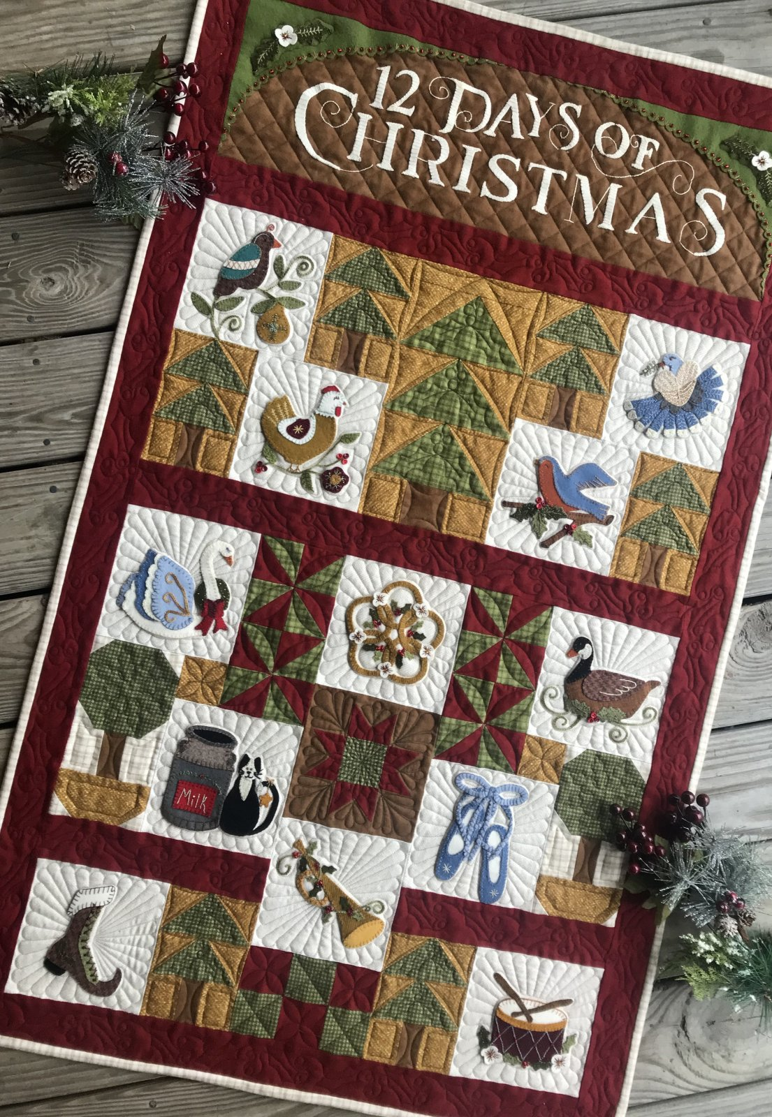 12 Days of Wooly Christmas Thread Pack