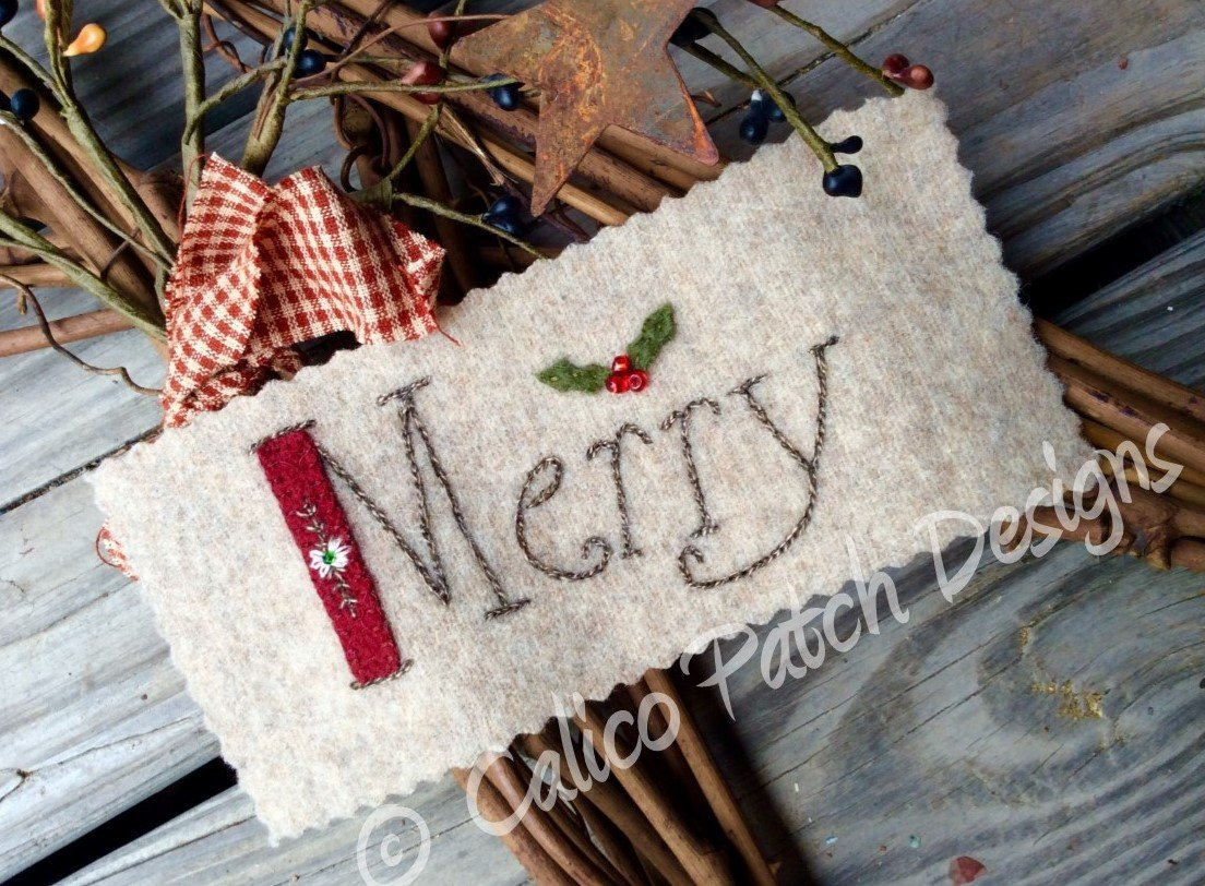 Calico Christmas Block 3 Merry