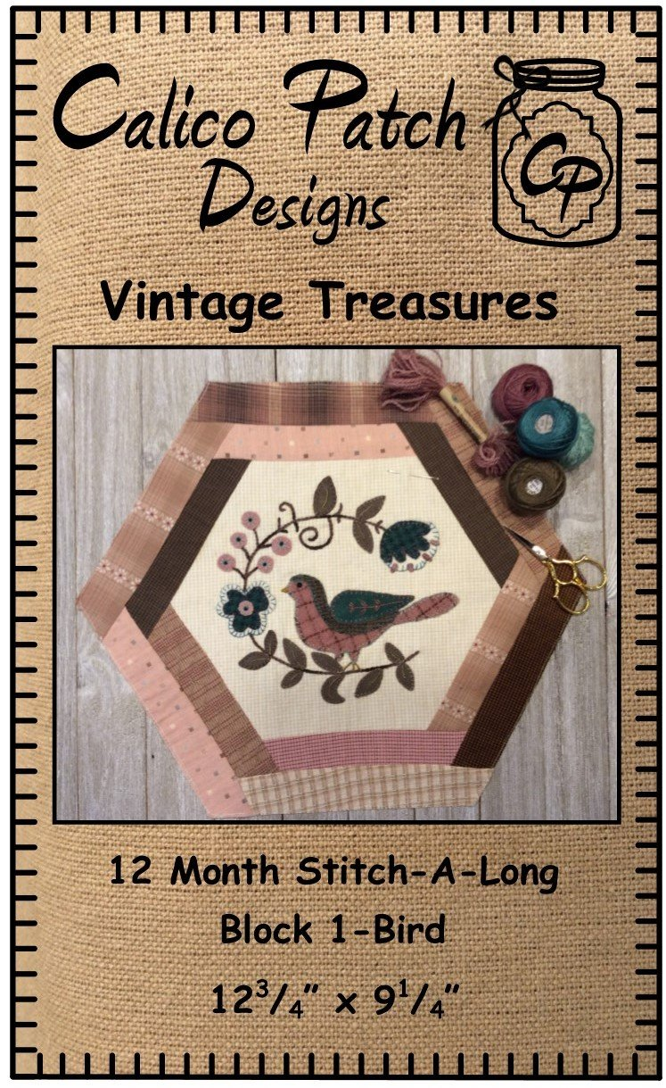 Vintage Treasures Block 1- Bird