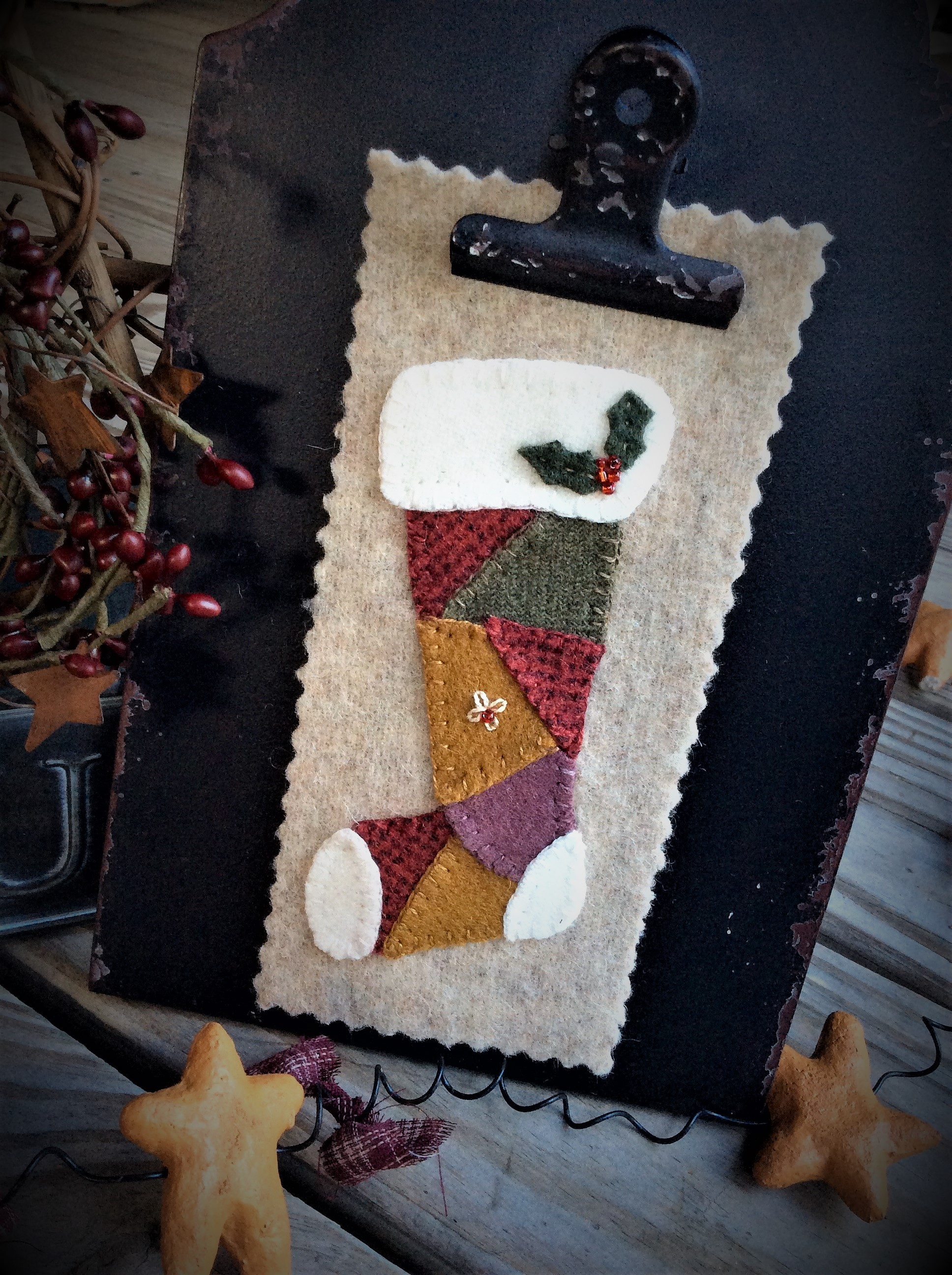 Calico Christmas Block 4 Stocking