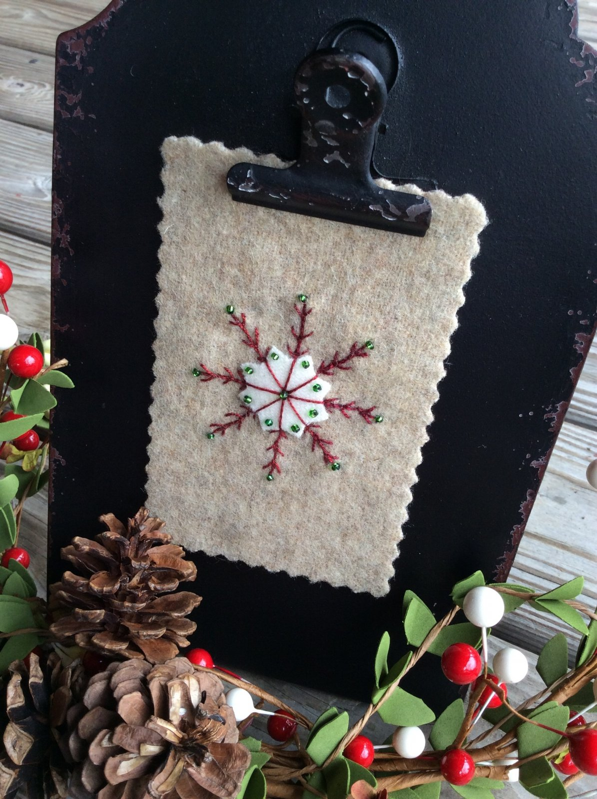 Calico Christmas Block 7 Snowflake