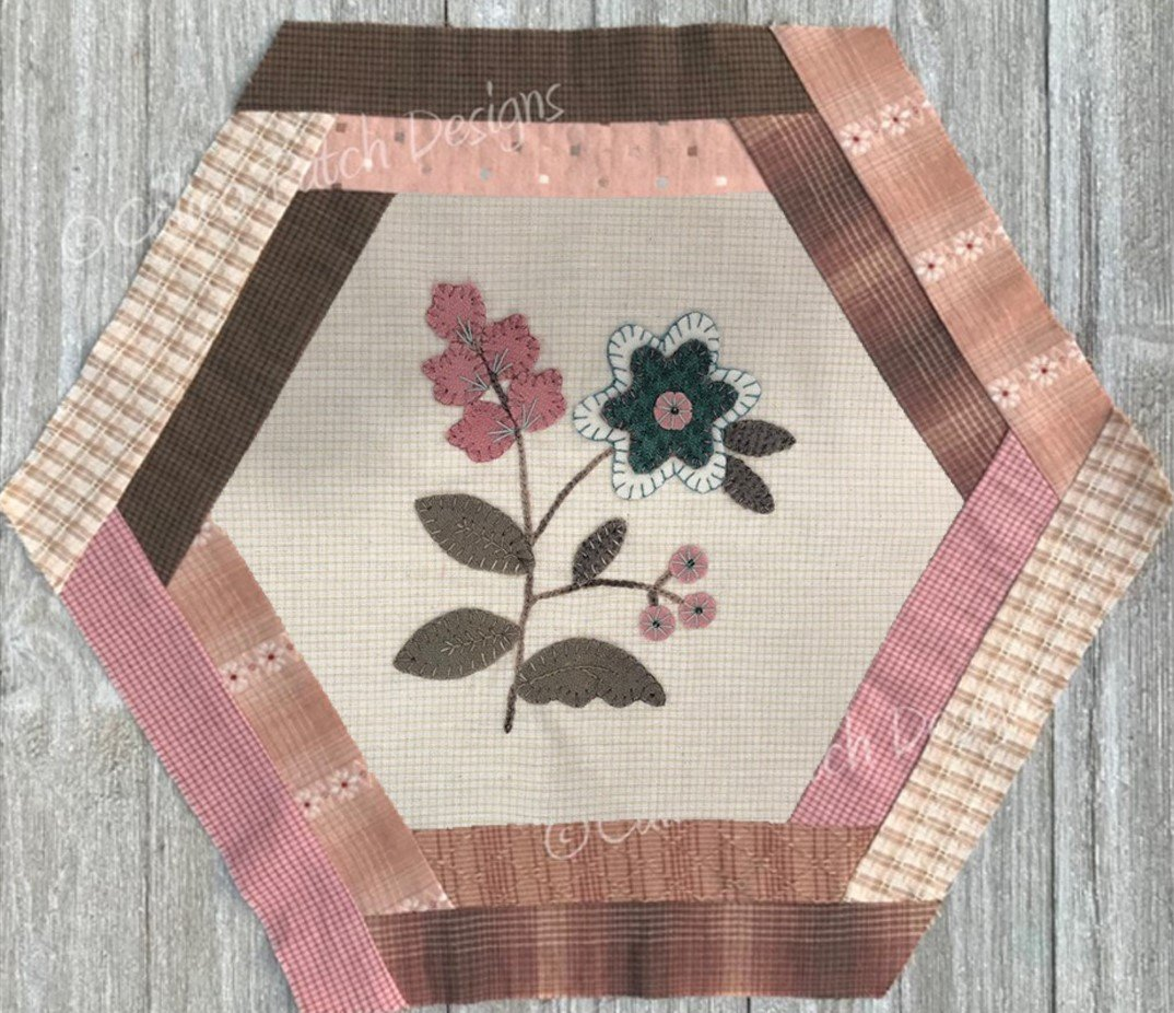 Vintage Treasures Block 9- Tall Phlox