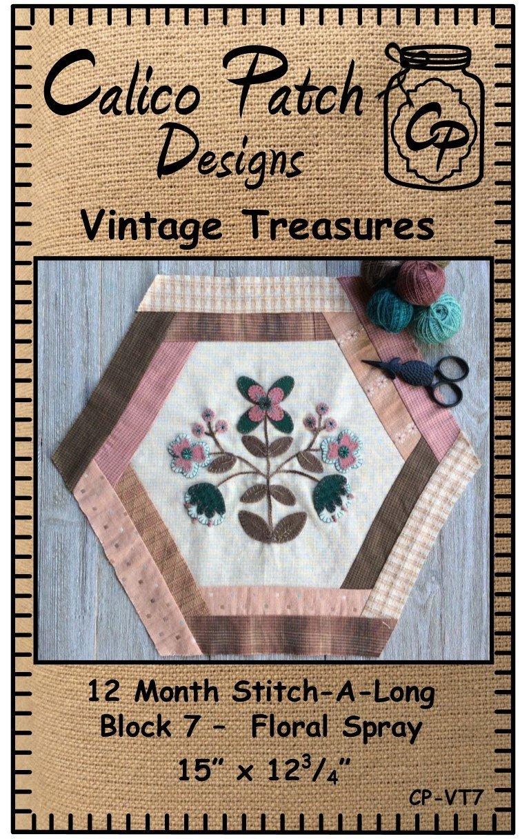 Vintage Treasures Block 7- Floral Spray