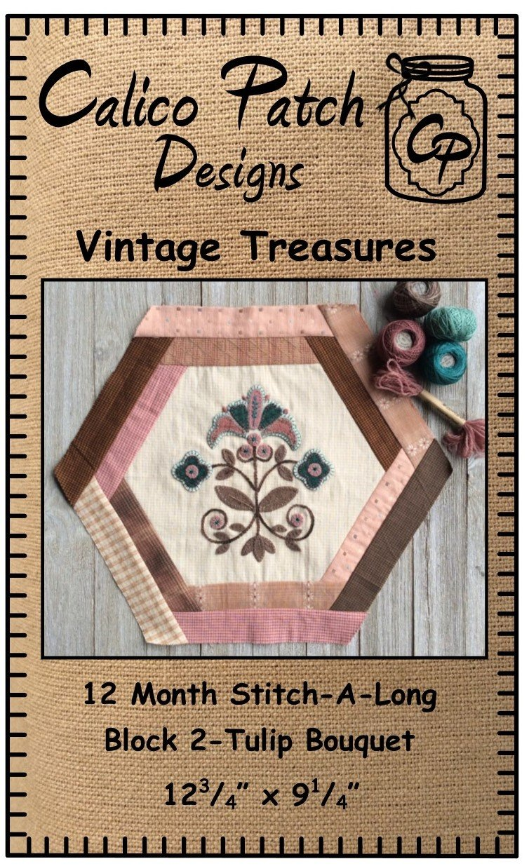 Vintage Treasures Block 2- Flower Bouquet