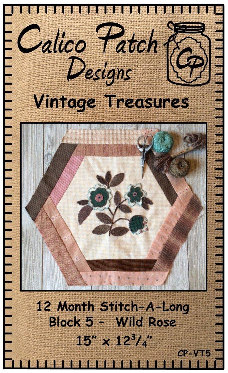 Vintage Treasures Block 5 Wild Rose
