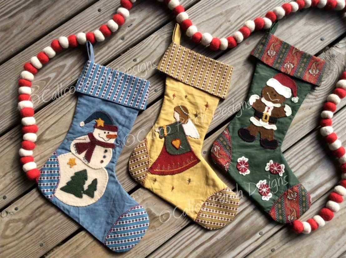 Vintage Stocking Trio Pattern
