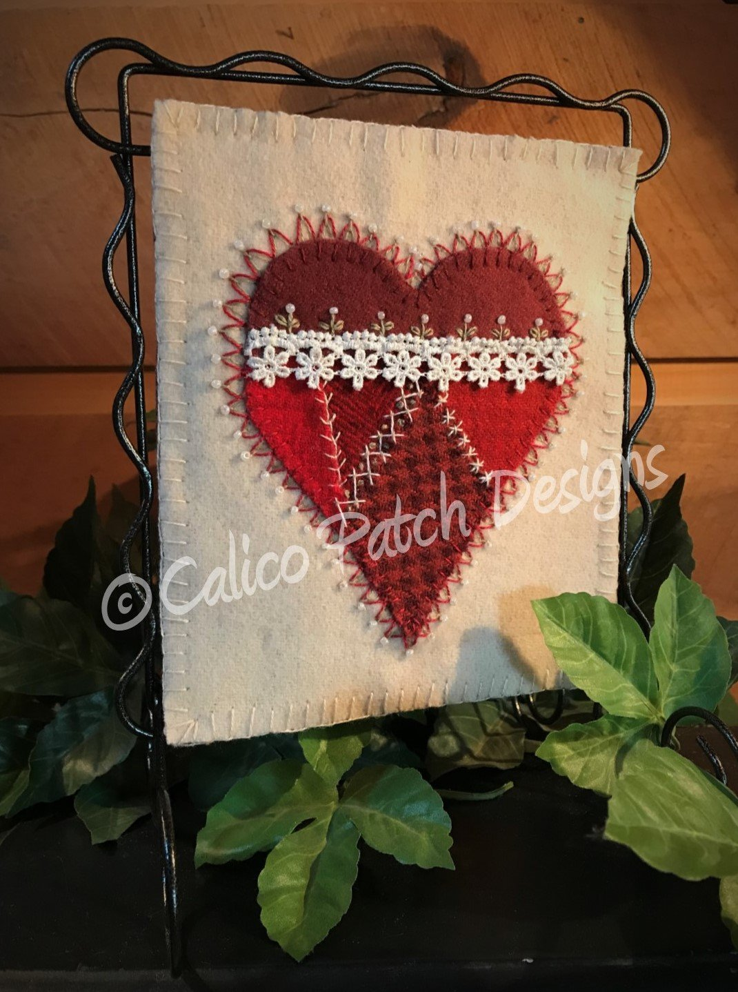 Wool & Lace Heart