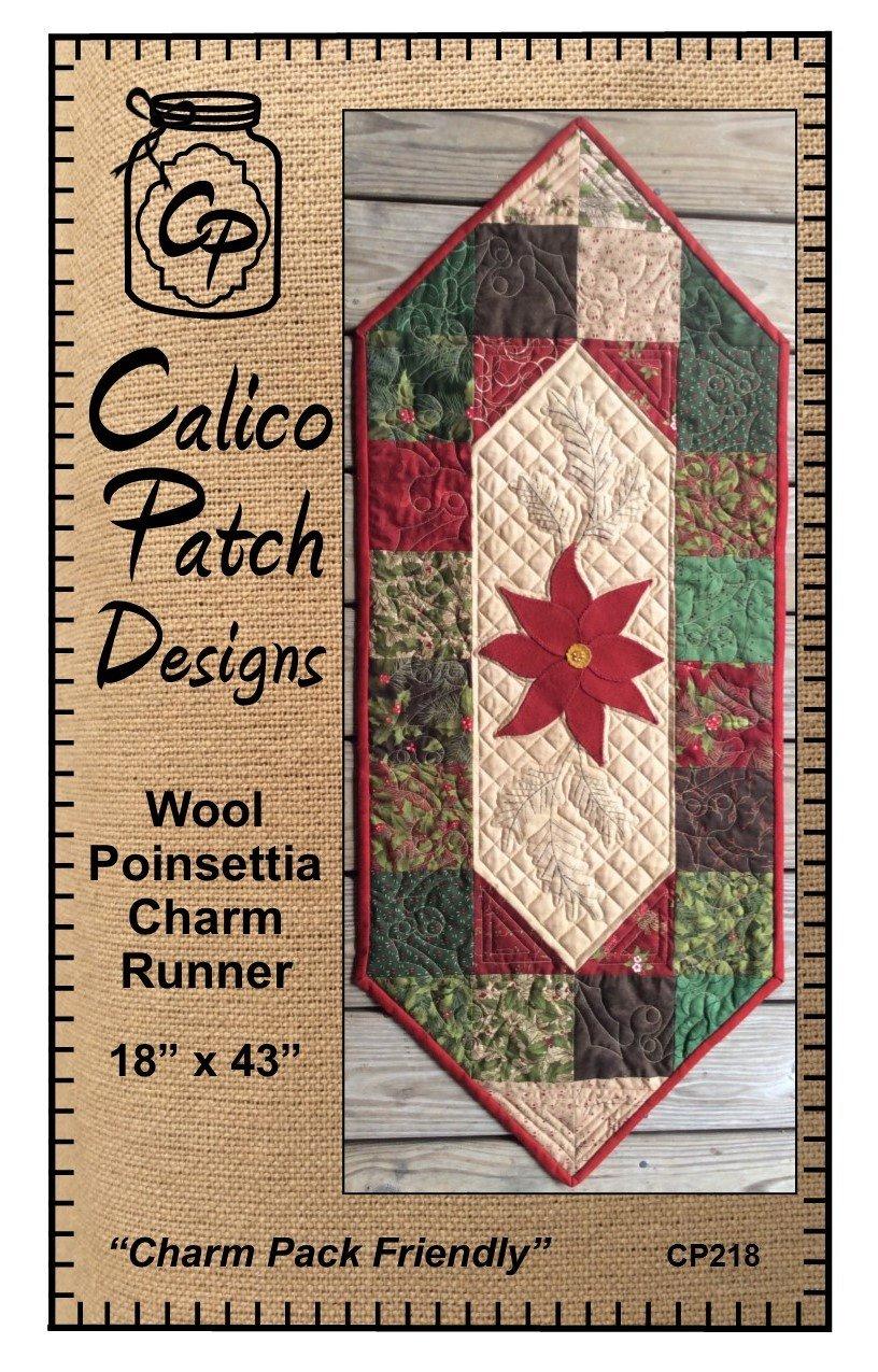 Wool Poinsetta Charm Runner