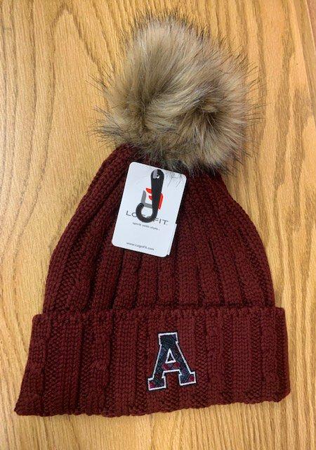 Fur Ball Knit Hat