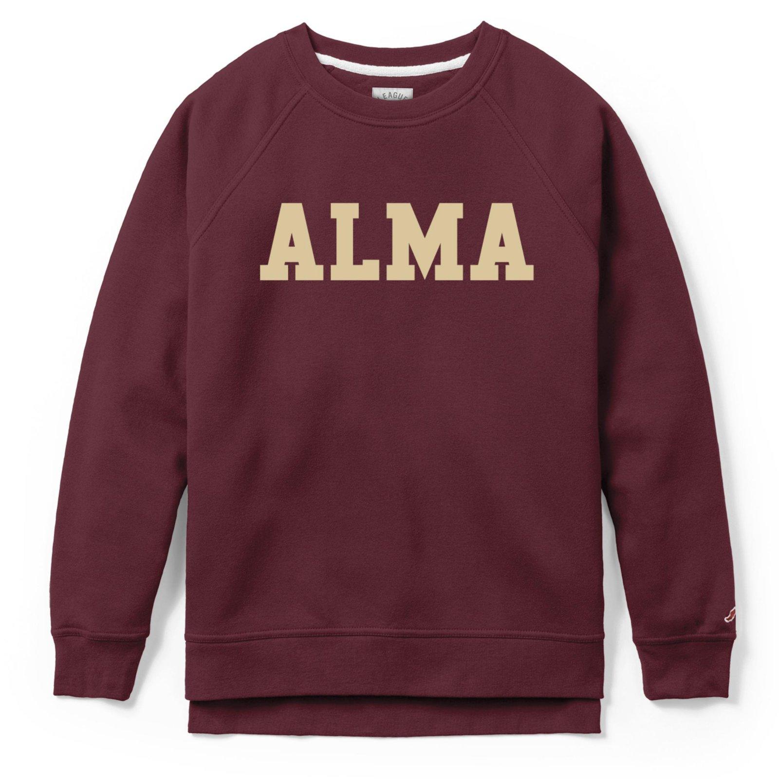 Alma Academy Crew Maroon