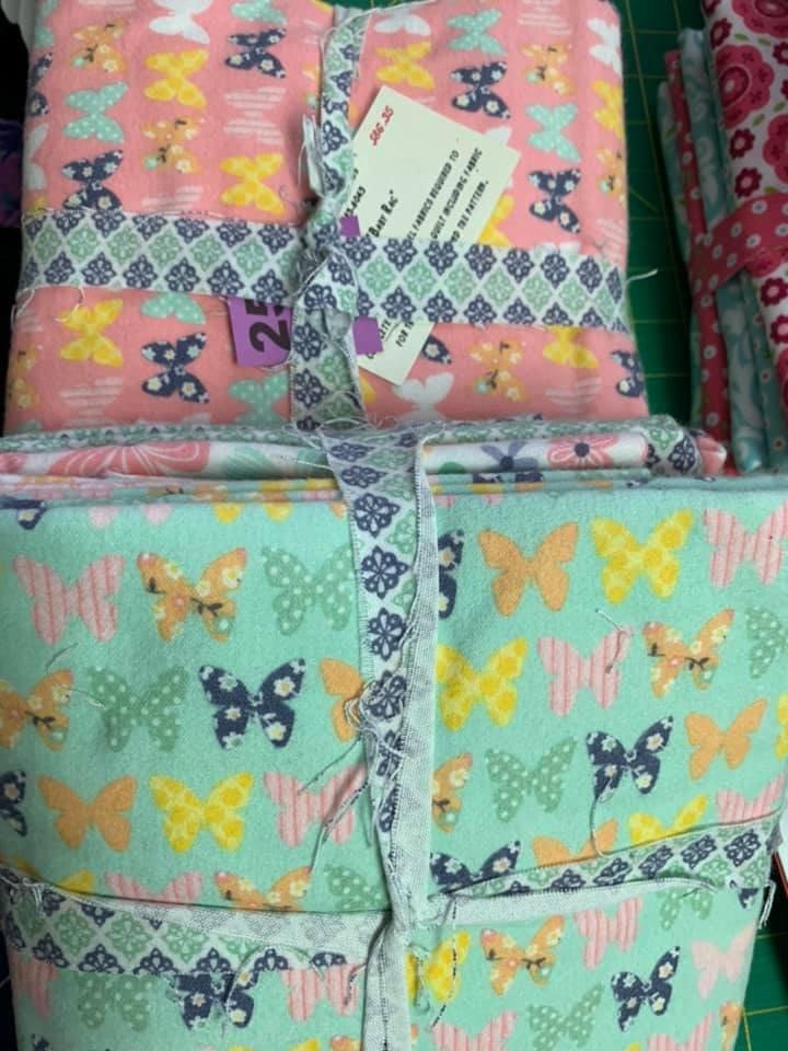 Baby Rag quilt - Butterflies