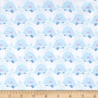 ITTY BITTYS FLANNEL WHALE PARADE