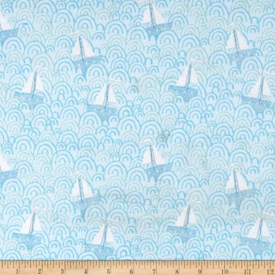 ITTY BITTYS FLANNEL TOSSED SAILBOATS