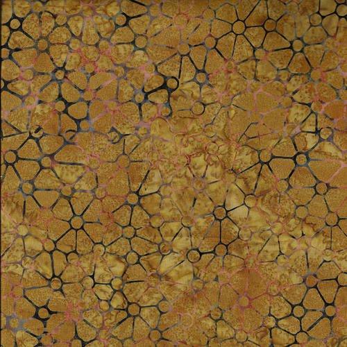 MURANO BATIK LT BROWN GEO TRIANGLES & CIRCLES