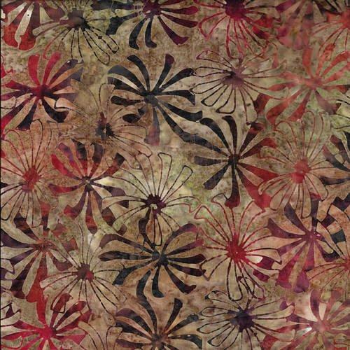 MURANO BATIK LT BROWN PINWHEEL FLORAL