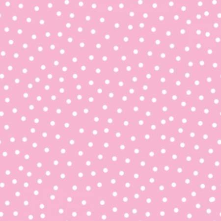 ITTY BITTYS FLANNEL WHITE DOT PINK
