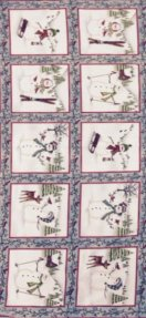 Maywood Frolic In The Snow Flannel Panel