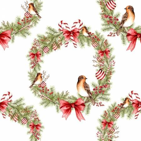 WINTER FOREST WREATHS WITH BIRDS