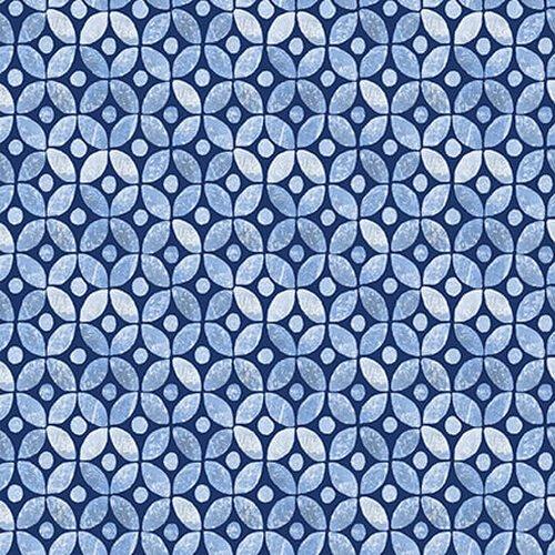 BLUE JUBILEE - MED. BLUE GEOMETRIC